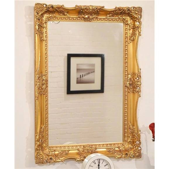 Elaborate Gold Carved Ornate Swept Frame Mirror 95Cm X 80Cm | Gold With Regard To Elaborate Mirrors (#26 of 30)