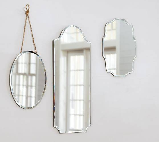 Eleanor Frameless Mirrors | Pottery Barn For Vintage Frameless Mirrors (#22 of 30)
