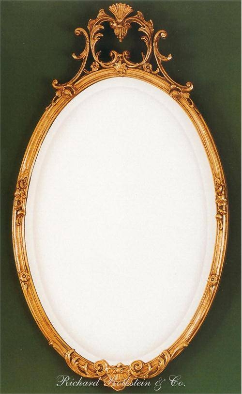 Elegant French Oval Mirror From Richard Rothstein Intended For French Oval Mirrors (#16 of 30)