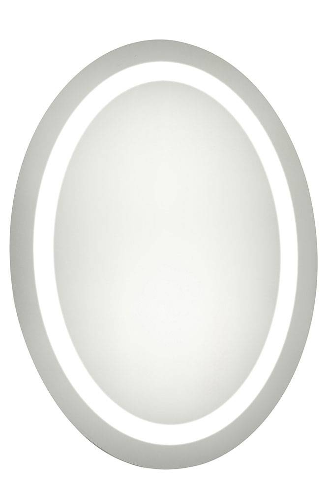 Elegant Lighting Mre 6008 Element Contemporary Glossy White Led 21 With White Oval Wall Mirrors (#3 of 30)