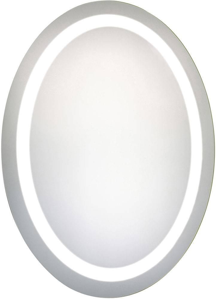 """Elegant Lighting Mre 6009 Element Modern Glossy White Led 23"""" X 30 Intended For Oval White Mirrors (#12 of 30)"""