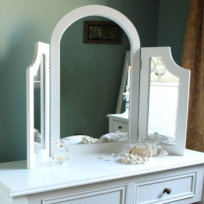 Eliza White Range – Triple Dressing Table Mirror – Melody Maison® Within Dressing Table Mirrors (View 10 of 20)