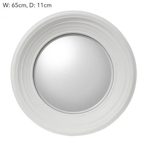 Emac & Lawton Round Convex Mirror White – Emac & Lawton From House With White Convex Mirrors (#16 of 30)