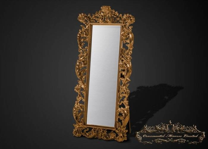 Emperor Gold Free Standing Full Length Mirror Throughout Gold Full Length Mirrors (#13 of 30)