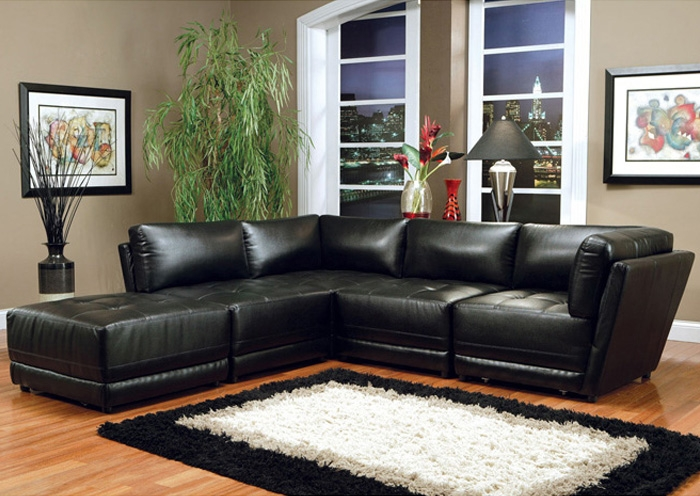Enchanting Modular Leather Sectional Sofa Leather Sectional Sofa In Leather Modular Sectional Sofas (#7 of 15)