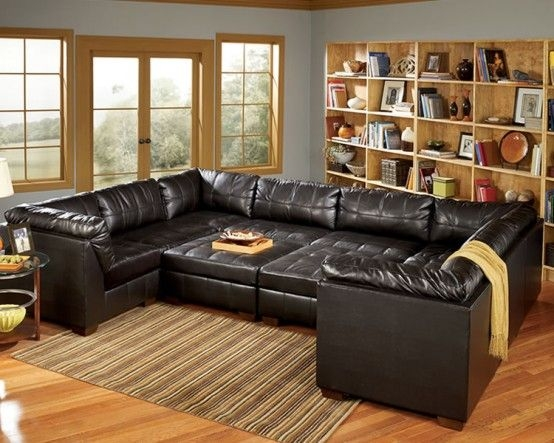 Enchanting Modular Leather Sectional Sofa Leather Sectional Sofa Intended For Leather Modular Sectional Sofas (#8 of 15)