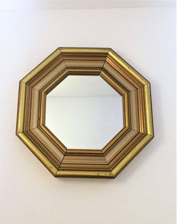 Enchanting Small Gold Mirrors 52 Small Round Gold Wall Mirror On Throughout Small Gold Mirrors (View 20 of 20)