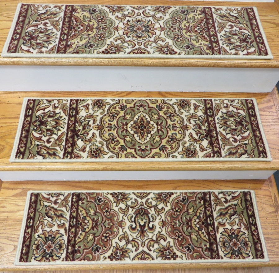 Entry Mudroom Wondrous Carpet Stair Treads With Classic Colors Intended For Indoor Stair Treads Carpet (#6 of 20)