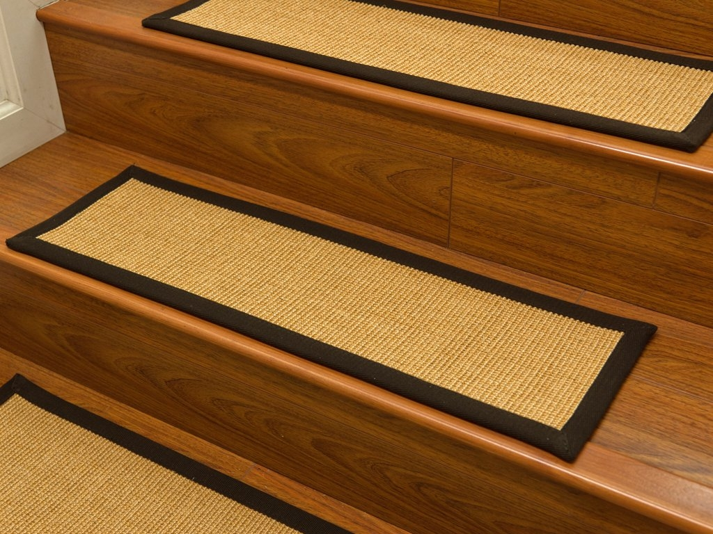 Entry Mudroom Wondrous Carpet Stair Treads With Classic Colors Intended For Stair Tread Rug Pads (#6 of 20)