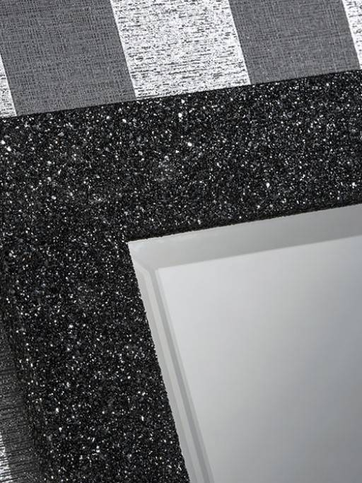 Epping Black Glitter – Buy A Mirror Uk Throughout Glitter Frame Mirrors (#11 of 20)