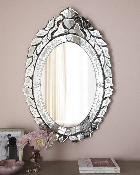 Ernhart Oval Venetian Style Mirror Throughout Venetian Style Mirrors (#7 of 30)