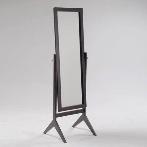 Espresso Finish Wood With Regard To Black Free Standing Mirrors (#12 of 30)