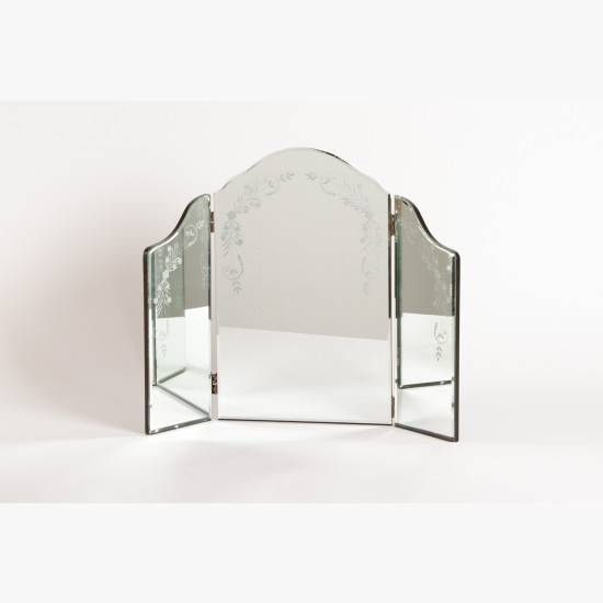 Etched Dressing Table Mirror Regarding Venetian Dressing Table Mirrors (#11 of 30)