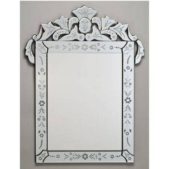 Etched Glass Framed Mirrors From Afina's Venetian Collection For Venetian Etched Glass Mirrors (View 12 of 20)