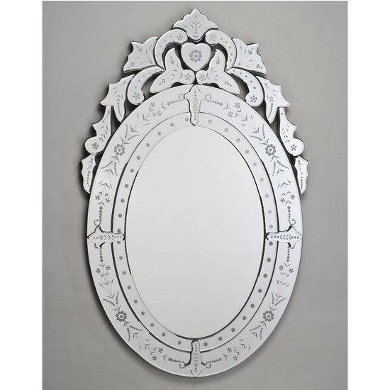 Etched Glass Framed Mirrors From Afina's Venetian Collection Pertaining To Venetian Glass Mirrors (#4 of 15)