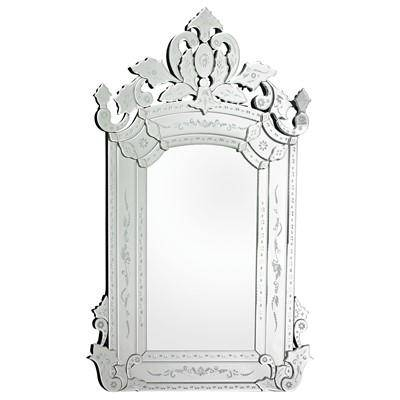 Etched Venetian Mirror Inside Venetian Etched Glass Mirrors (View 11 of 20)