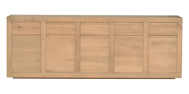 Ethnicraft Flat Oak Sideboard   Solid Wood Furniture Regarding Oak  Sideboard Uk   7 of. 20 Ideas of Oak Sideboard Uk