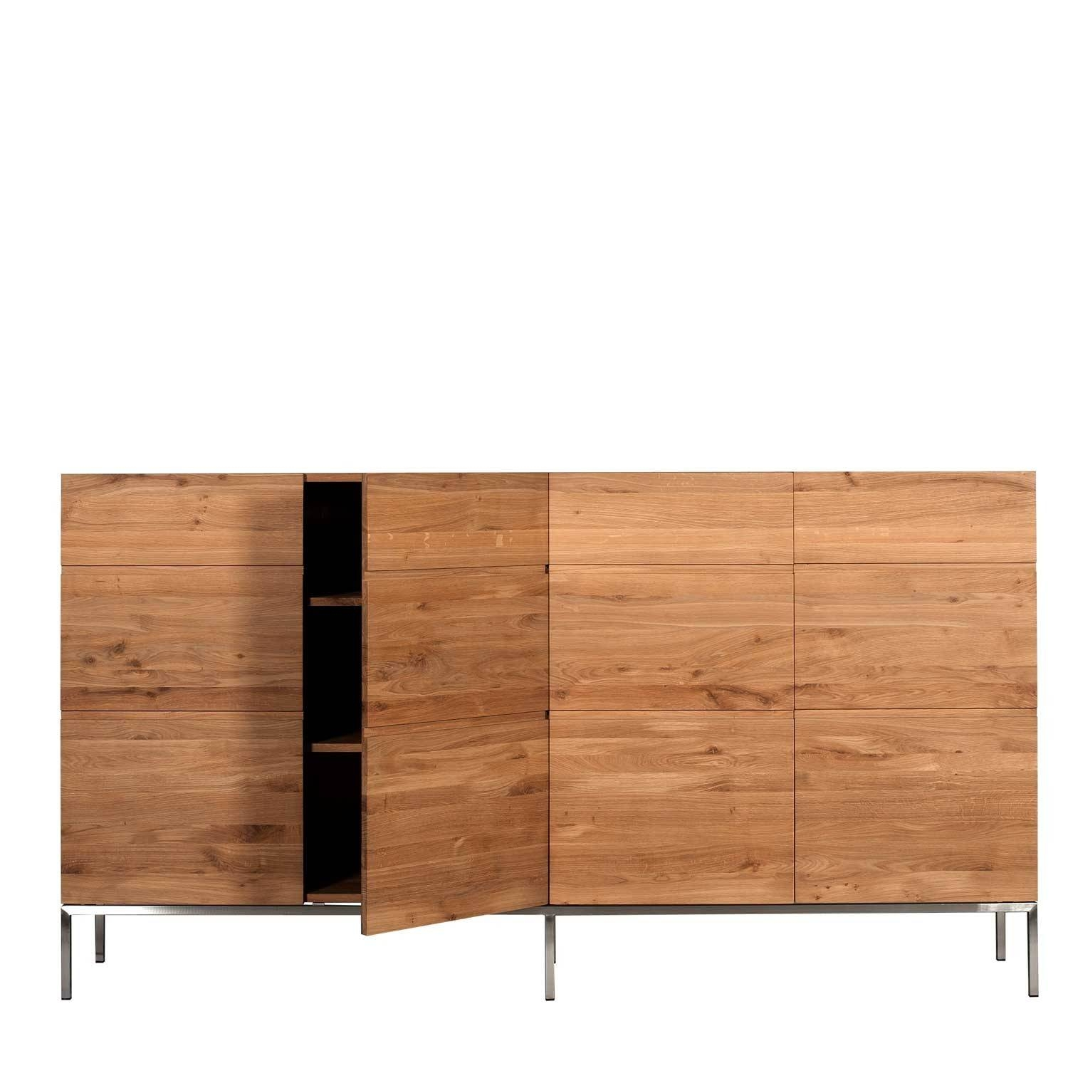 Ethnicraft Ligna Oak High Sideboard | Solid Wood Furniture With High Sideboard (View 6 of 20)