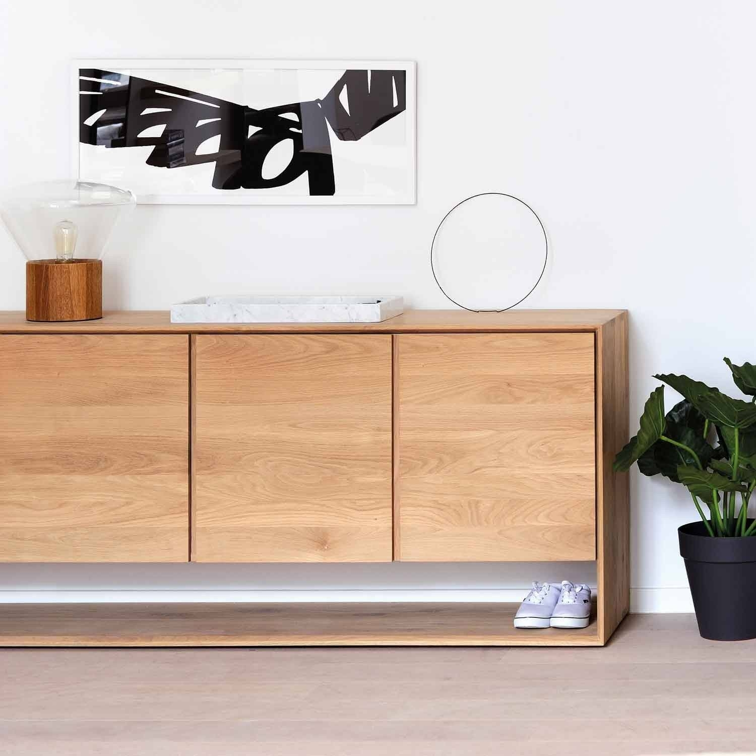 Ethnicraft Oak Nordic Sideboard With Regard To Sideboards (View 6 of 20)