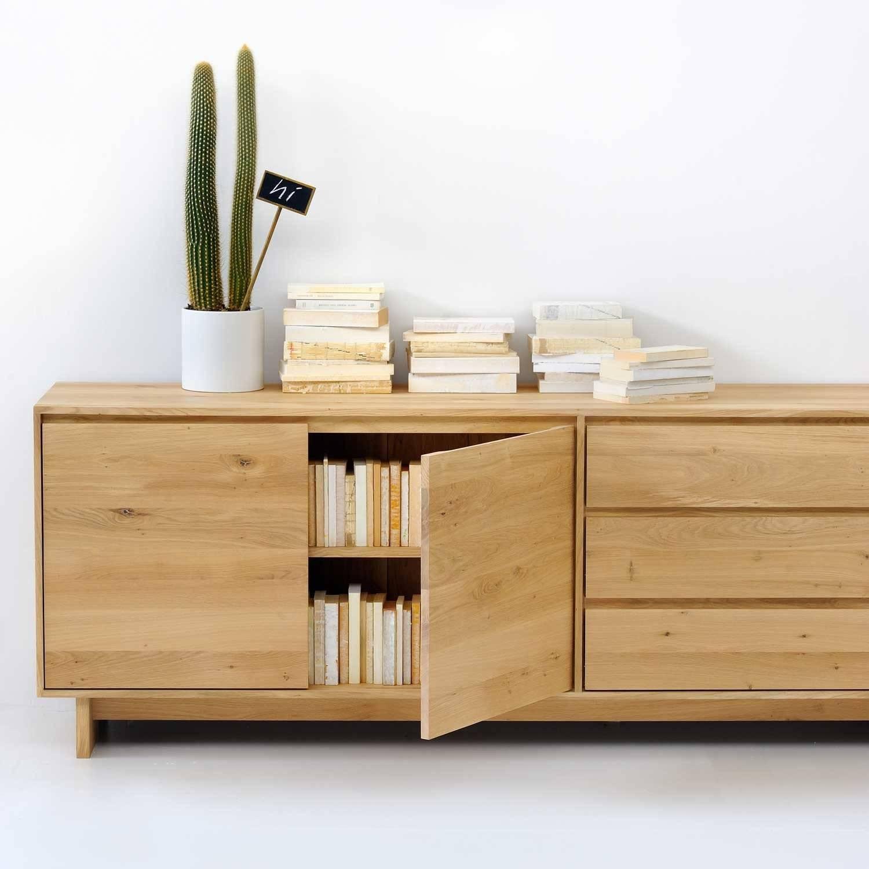Ethnicraft Oak Wave Sideboard Pertaining To Sideboards Oak (#3 of 20)