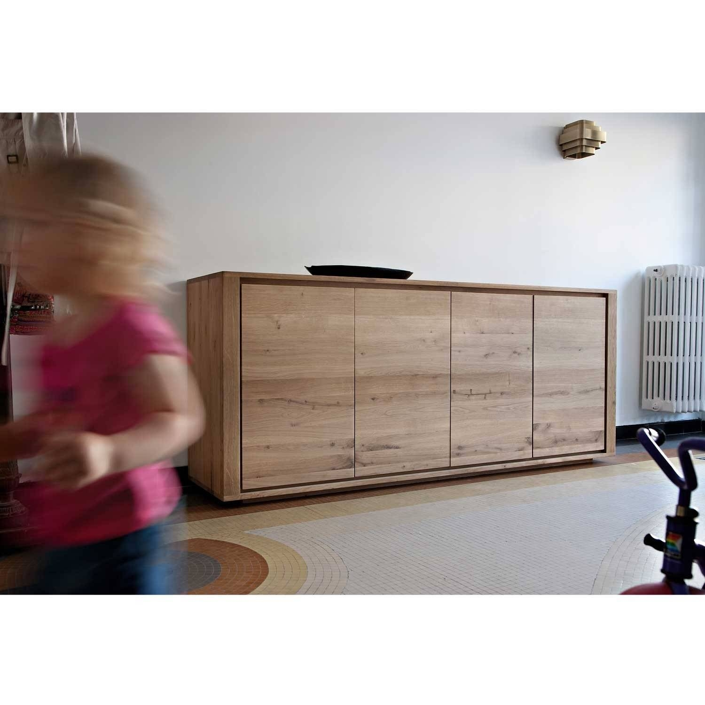 Ethnicraft Shadow Oak Sideboard | Solid Wood Furniture For Narrow Oak Sideboard (#7 of 20)