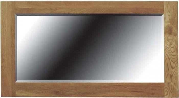 Eton Solid Oak Framed Mirror (Large) – Oak Furniturehouse Of Oak For Large Oak Framed Mirrors (#8 of 20)