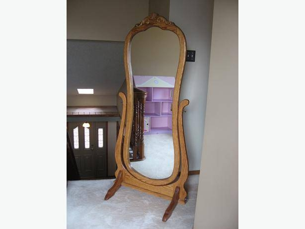 Excellent Condition *** Oak Full Length Stand Alone Mirror South With Full Length Stand Alone Mirrors (#16 of 30)