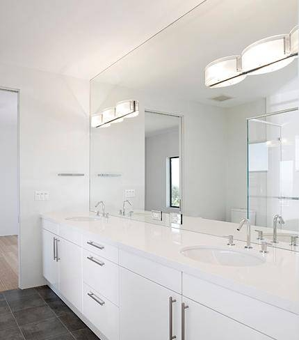 Excellent Frameless Bathroom Vanity Mirrors Double With Full Wall Within Large Frameless Wall Mirrors (View 20 of 20)
