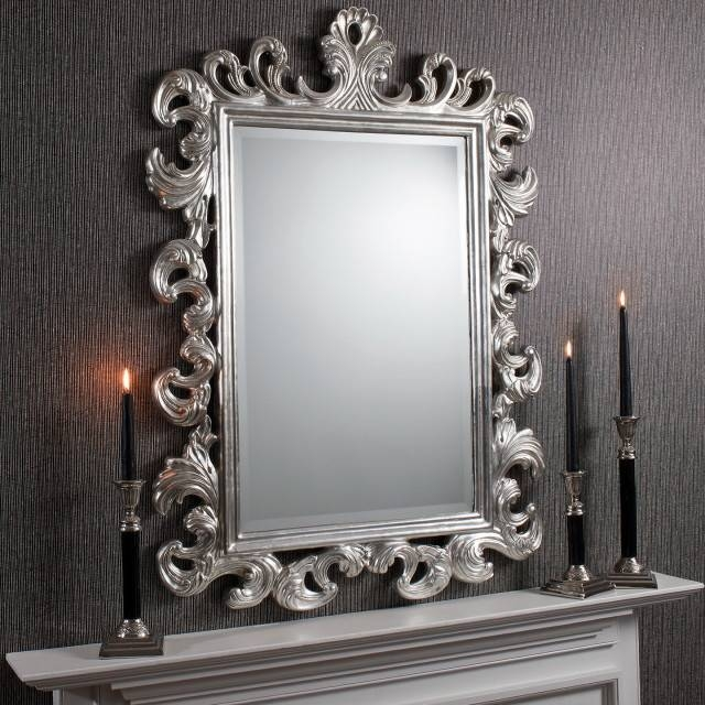 Exceptional Antique Wall Mirror Styles Plus Large Black Framed In Old Style Mirrors (#18 of 30)