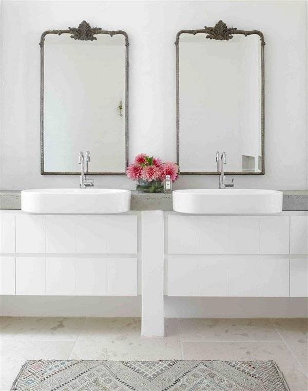 Popular Photo of Antique Mirrors For Bathrooms