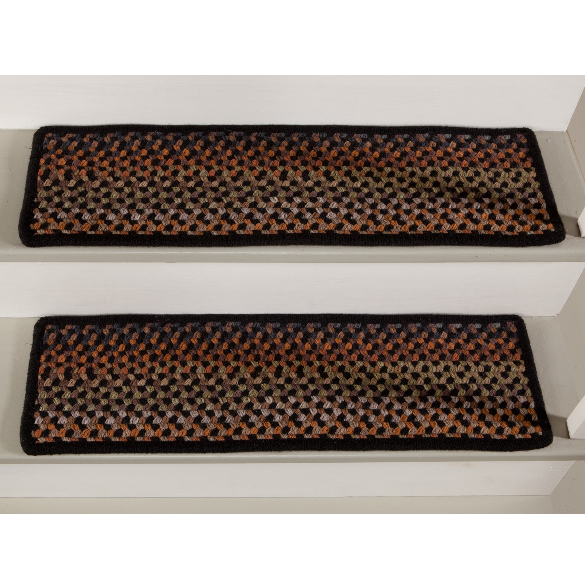 Exterior Interesting Stair Treads For Interior And Exterior Pertaining To Braided Stair Tread Rugs (#9 of 20)