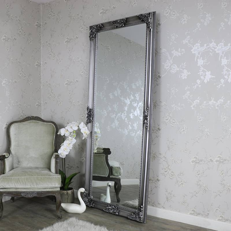 Extra, Extra Large Ornate Antique Silver Full Length Wall/floor With Regard To Full Length Silver Mirrors (#6 of 20)