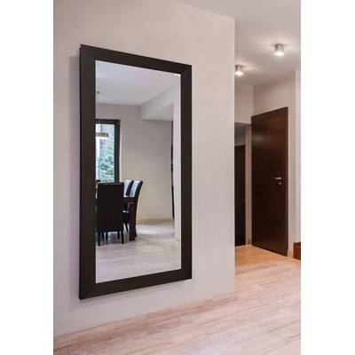 Extra Large Black Walnut Mirror & Reviews | Allmodern Pertaining To Extra Large Black Mirrors (#21 of 30)