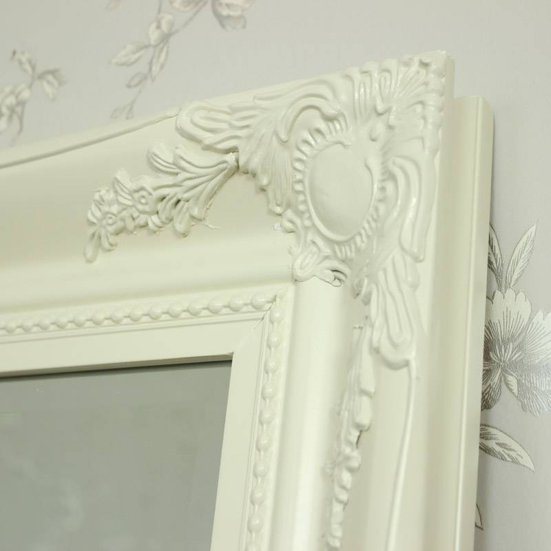Extra Large Cream Ornate Wall/floor Mirror – Melody Maison® With Cream Ornate Mirrors (#13 of 20)