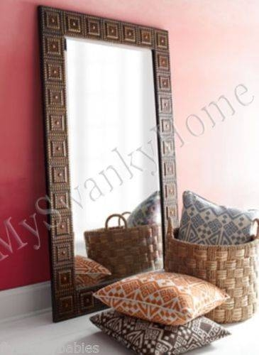 Extra Large Floor Wall Mirror Oversize Hammered Bronze Full Length With Extra Large Full Length Mirrors (View 15 of 30)