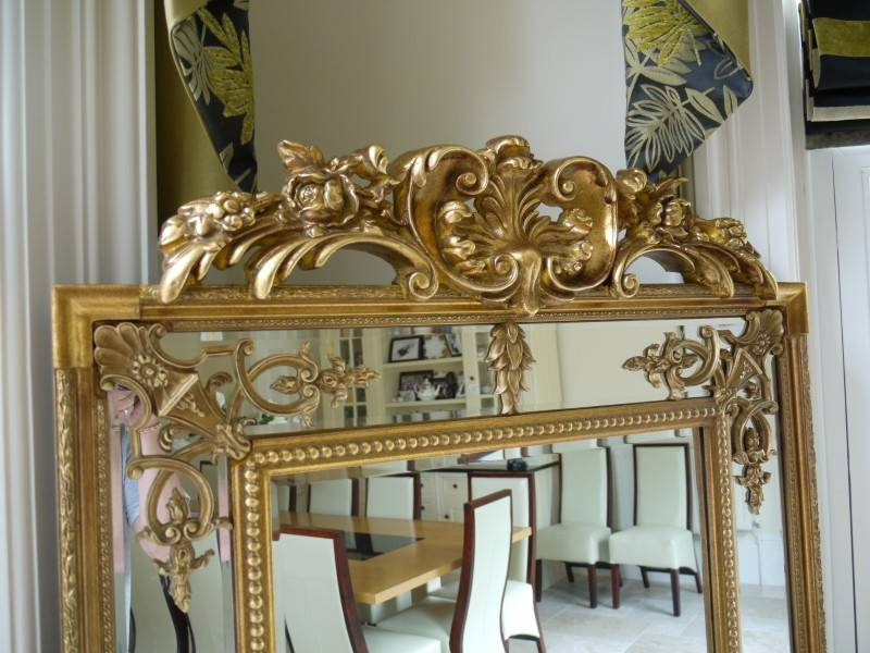 Extra Large Ornate Antique Gold Full Length Wall Mirror – Melody Pertaining To Gold Full Length Mirrors (#14 of 30)