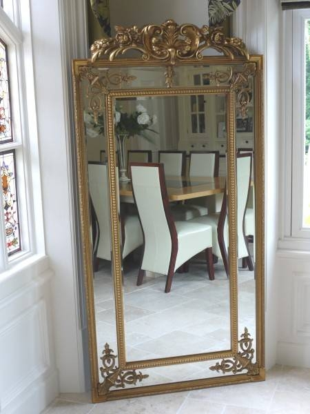 Extra Large Ornate Antique Gold Full Length Wall Mirror – Melody Regarding Full Length Ornate Mirrors (#8 of 30)