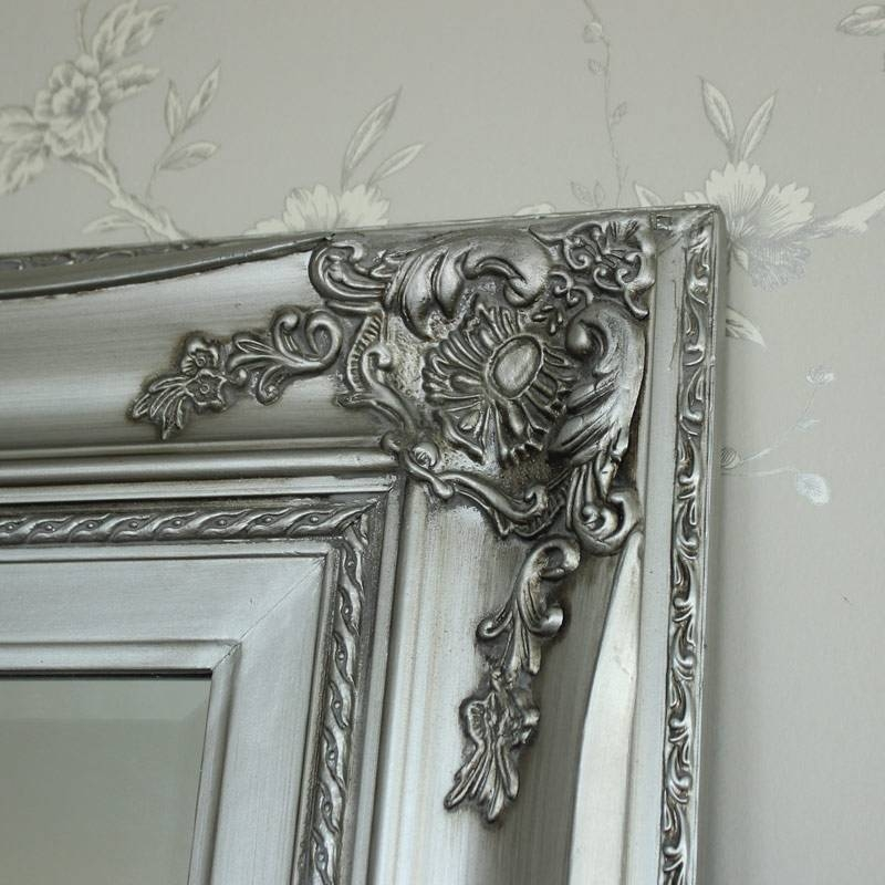 Extra Large Ornate Silver Wall/floor Mirror – Melody Maison® Inside Large Ornate Silver Mirrors (View 15 of 20)