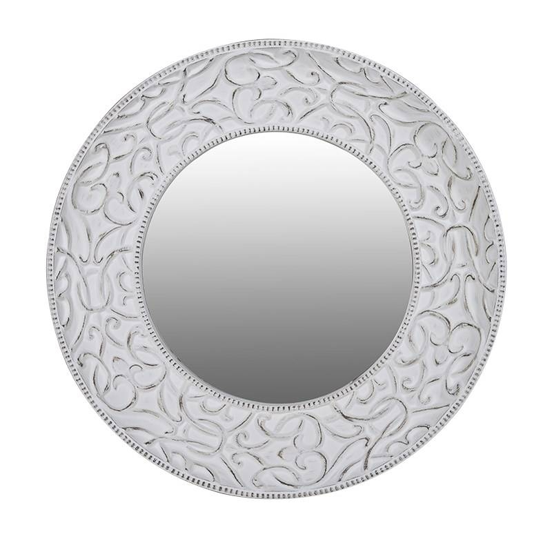 Extra Large Round White Shabby Chic Mirror 121Cm Round White Regarding White Shabby Chic Mirrors (#20 of 30)