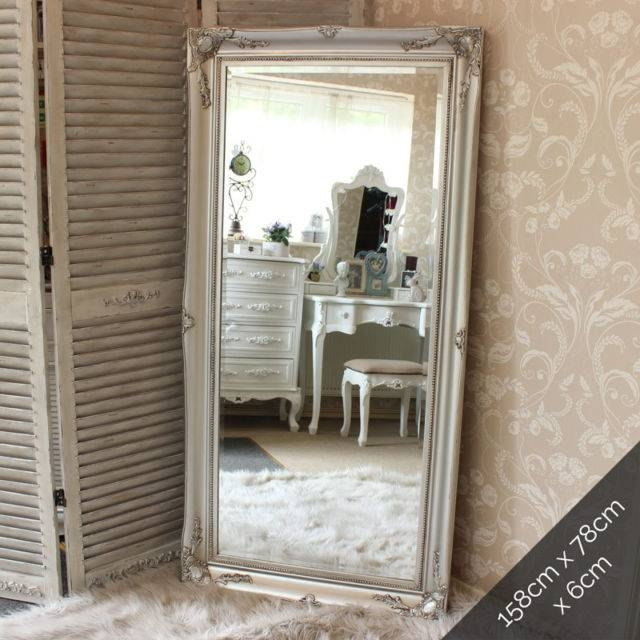Extra Large Silver Wall Floor Ornate Mirror Bedroom Hall Living With Large Silver Vintage Mirrors (#23 of 30)