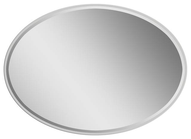 Extra Long Oval Wall Mirror – Modern – Wall Mirrors  Decor With Long Oval Mirrors (#16 of 30)