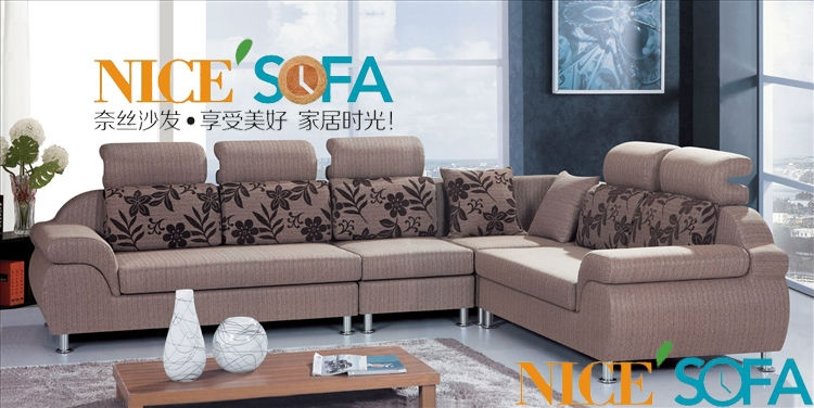 Fabric Sofa Designs Pertaining To L Shaped Fabric Sofas (View 4 of 15)
