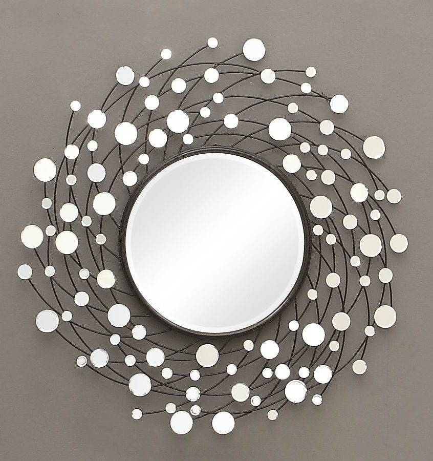 Fancy Decorative Wall Mirrors For Living Room : Perfect Decorative Regarding Decorative Round Mirrors (View 6 of 30)