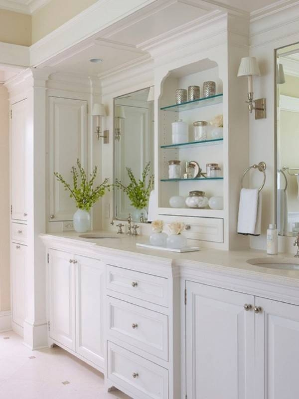 Fantastic French Country Bathroom Mirror And Wall Mounted Lamp Within French Bathroom Mirrors (#19 of 30)