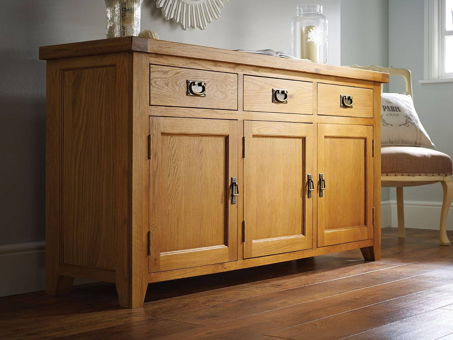 Farmhouse Country Oak Large Oak Sideboard – Just £399 – Youtube Intended For Country Sideboards (View 5 of 20)