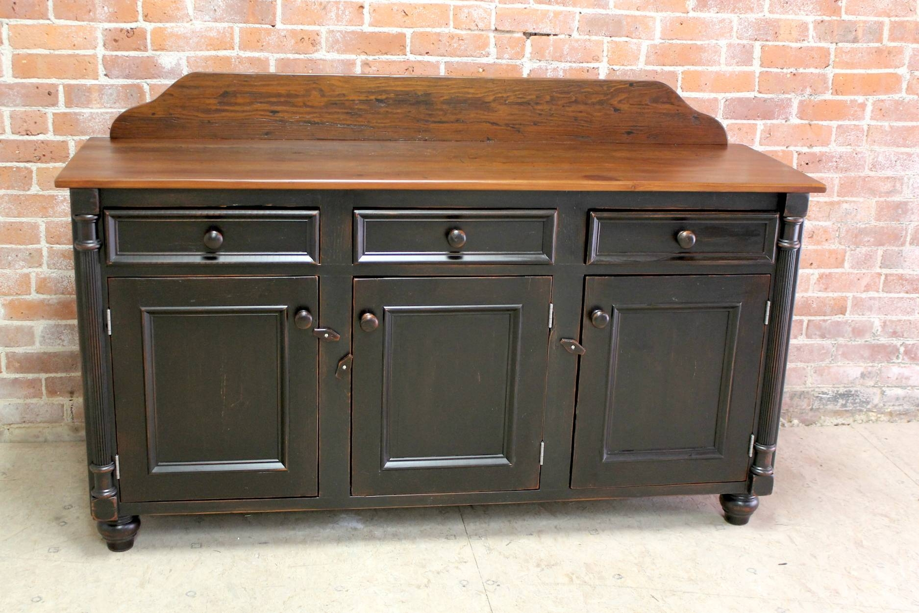 Farmhouse Sideboard Buffets Intended For Black Sideboard Buffet (#6 of 20)