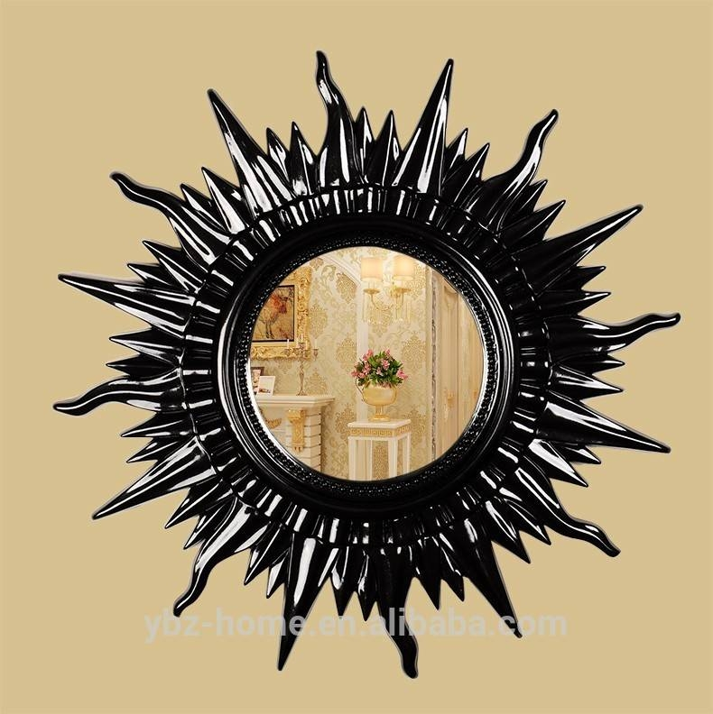 Fashional Sun Shape Black Large Wall Mirror – Buy Large Wall In Large Sun Shaped Mirrors (#13 of 20)