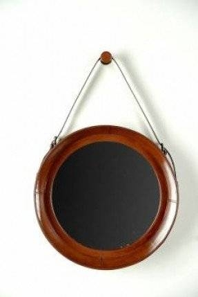 Faux Leather Mirror – Foter Intended For Black Faux Leather Mirrors (#10 of 20)