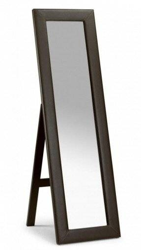 Faux Leather Mirror – Foter Regarding Black Faux Leather Mirrors (#11 of 20)