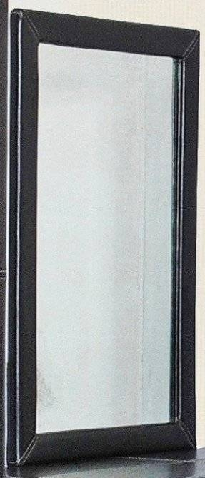 Faux Leather Mirror – Foter With Regard To Black Faux Leather Mirrors (#12 of 20)